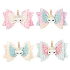 Glitter Hair Bows Unicorn Hair Clips Hairpins Hair Accessories for Kids Girls