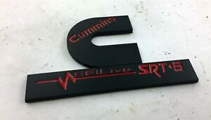 "MOPAR DODGE RAM CUMMINS EFI LIVE SRT-6 EMBLEM BLACK RED 5"" X 3"""