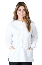 Medical Nursing NATURAL UNIFORMS Warm Up Top Scrubs Jackets Lab Coats for Women