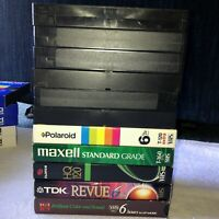VHS Sold as Blank Pre-Recorded Mixed Brands Lot of 11 Blank or recorded Surprise