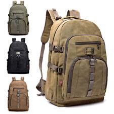 35L Men Vintage Canvas Backpack Rucksack Bag Camping Travel School Satchel
