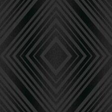 BLACK DIAMOND TEXTURED SPARKLE DESIGNER FEATURE WALLPAPER GRANDECO GOLD A15804