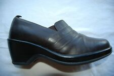 Black Leather DANSKO Slip On Shoes w/Folds & Elastic Inserts EU 38 US 7.5 - 8