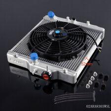 For HONDA CIVIC D15/16 EG / EK 92-00 3 Row 52MM Aluminum Radiator With Black Fan