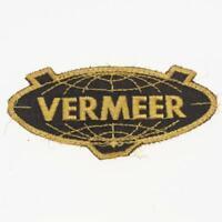 Vintage Vermeer Globe Earth Advertising Patch