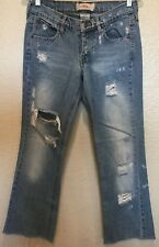 "Z. Cavaricci Jeans Women's Size 5 Vintage Denim Distressed 30""i"
