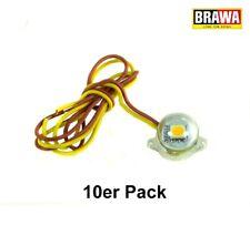 Brawa 94700 LED-Beleuchtungssockel warmweiß, 10er Pack +++ NEU in OVP