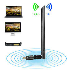 1200Mbps Dualband WiFi Adapter,Dongle WLAN Stick 802.11b/g/n/ac USB 3.0 2.4/5GHz