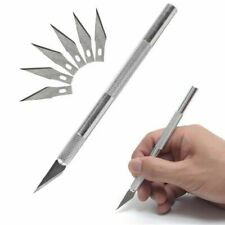 Practical Metal Handle Craft Knife With 7Pcs Blade Scalpel Cutter Engraving Tool