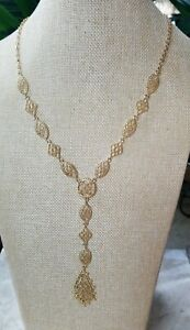 Jessica Simpson Gold tone Necklace With Attachable Pendant