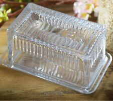 Katie Alice COTTAGE FLOWERS Glass BUTTER DISH Large