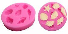 Coquille de moule en silicone-MER/OCEAN moule-Fondant/chocolat-Sugar Craft/Cake-coquillages