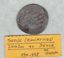 More details for buyids a.d. 990 to 998 silver coin in a well used condition