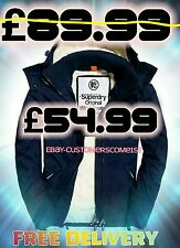 NEW MENS XL SIZE 42 SUPERDRY HOODED SHERPA WINDCHEATER NAUTICAL NAVY JACKET BNWT