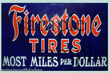 WALL MOUNT METAL FIRESTONE TIRE BUILDING STORE DIORAMA LAYOUT SIGN 3x2