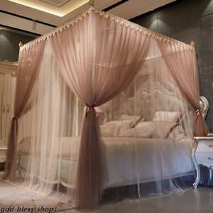 mosquito net for summer double layers netting romantic room bed curtain frames