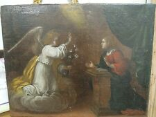 Quadro, olio, tela, olio su tela, dipinto antico, Annunciazione XVII sec.