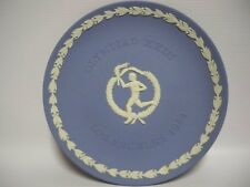 1984 Olympic Games Los Angeles Wedgwood Blue Jasper Ware Coupe Souvenir Plate