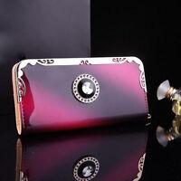 Fashion Lady Women Clutch Long Purse Leather Wallet Card Holders Handbag Bags
