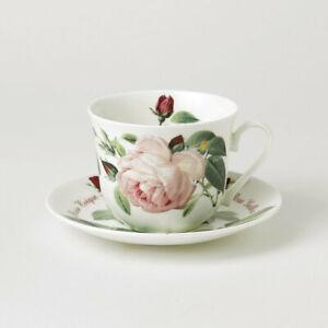 Jumbotasse mit Unterteller Versailles Roy Kirkham Porzellan Rosen 296900 Blumen