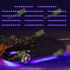 14x 3 Mode 3528 LED Chips Neon Light Strips Bar Underglow Underbody Kit Purple