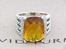 DAVID YURMAN 16 x 12 WHEATON RING CITRINE WITH PAVE DIAMONDS SZ 6 1/2 NEW