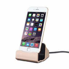 Dockingstation Tischladestation für Apple iPhone 5S 5C SE 6 7 7S 6S Plus Gold