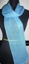 Damen Mädchen Herren Netz Schal Tuch Stola hell blau transparent 164 x 20 - NEU