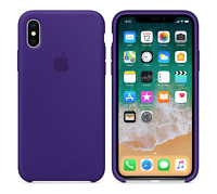 ULTRA VIOLET  GENUINE ORIGINAL Apple Silicone Case NEW iPhone X RRP $39