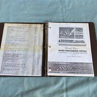 Tandy TRS-80 LeScript Word Processing System Manual Model I 3 4 Anitek Computer