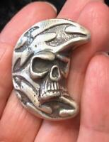 "2 Oz MK BarZ ""Skull on the Moon"" .999 FS"