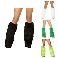 FLUFFY LEG WARMERS VARIOUS COLORS - CH Rave - MADE IN USA! - SAME DAY SHIPPING!