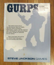 GURPS Blank Character Sheets - 1989 1st Print -- Steve Jackson Games - Free Ship