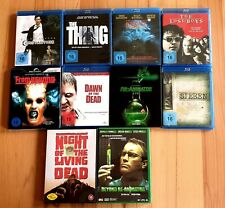 HORROR BLU RAY & DVD SAMMLUNG - 10 FILME - WIE NEU !