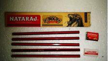 10X Nataraj Bold Pencil Super black |free 1 sharpener +1 eraser| SCHOOL HOME use