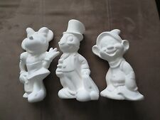 Vintage Walt Disney Production Minnie Mouse Dopey Jiminy Cricket Bisque Ceramic