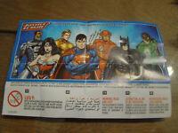 Ü-Ei Justice League aus Indien Komplett SE628 - SE685 alle Figuren und 6 BPZ