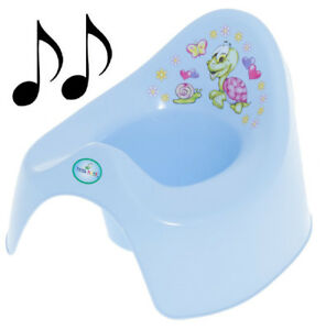 Musical training to go potty for young children-blue turtle