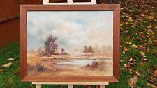Jackie Bekker 1990 Original Peinture à l'huile Afrique Savane Paysage