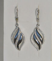 Echt 925 Sterling Silber Ohrringe Ohrhänger Zirkonia crystal Hochzeit Nr 245