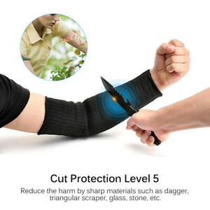 1 Pair Steel Wire Tactical Cut Proof Armband Protective Sleeve Arm Guard Bracer