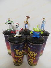 Toy Story 4 Full set Cinema Movie Figure Cup Topper + Cups