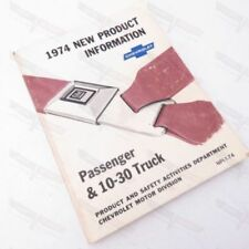 """Chevrolet USED """"1974 New Product Information Passenger & 10-30 Truck"""""""