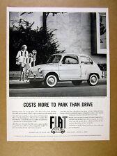 1960 Fiat 600 car mother-daughter parking meter photo vintage car photo