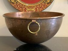 """Vintage Williams Sonoma 11"""" Copper Mixing Bowl with Hanging Ring France"""