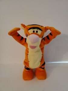 "2005 Fisher Price Disney Tumble Time Tigger interactive 12"" plush toy SEE VIDEO"
