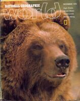national geographic WORLD-DEC 1976-BROWN BEARS.