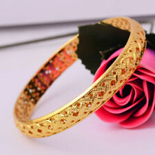 Fashion Charm Women 14K Gold Filled Bracelet Bangle Wedding Jewelry Free Ship