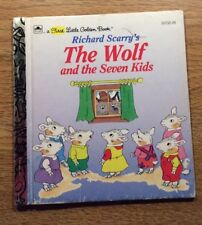 First Little Golden Book Richard Scarry's THE WOLF AND THE SEVEN KIDS