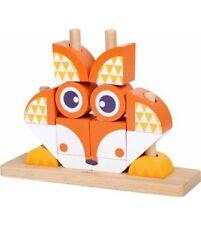 Classic World Wooden Fox Blocks Set | Wooden Blocks to build imagination!